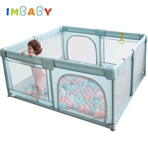IMBABY Baby Playpen Children Pool Balls For Newborn Baby Fence Games Playground Indoor Playpen for Kids Safety Barrier Balls Pit