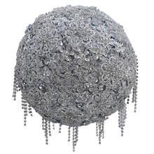 WifeLai-великолепные серебряные стразы, свадебные букеты ручной работы, букет невесты, полный бриллиантового кристалла, букет De Mariage W2122
