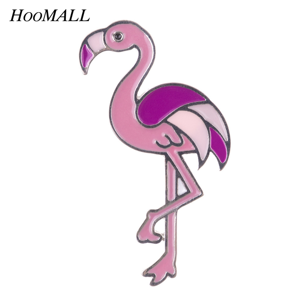 Us 084 29 Offhoomall Kawaii Metal Enemal Pins Badges Cartoon Flamingo Brooches Icons Backpack Decoration Badges For Clothes Diy In Badges From