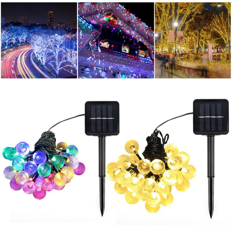 30/50 LED Solar Light Waterproof Fairy Garland Lights String Outdoor Holiday Christmas Party Wedding Solar Lamp Decor Dropship