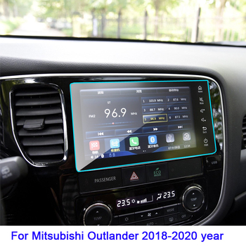 Tempered Glass Screen Protective Film for Mitsubishi Outlander Auto Interior Car GPS Navigation Screen Protector 2018-2020 year image