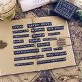 20 шт., винтажные цитаты, бумажные наклейки для дневника, скрапбукинга
