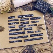 20 pçs junk journal vintage sentimento citações adesivos de papel para diário bala diário planejador scrapbooking
