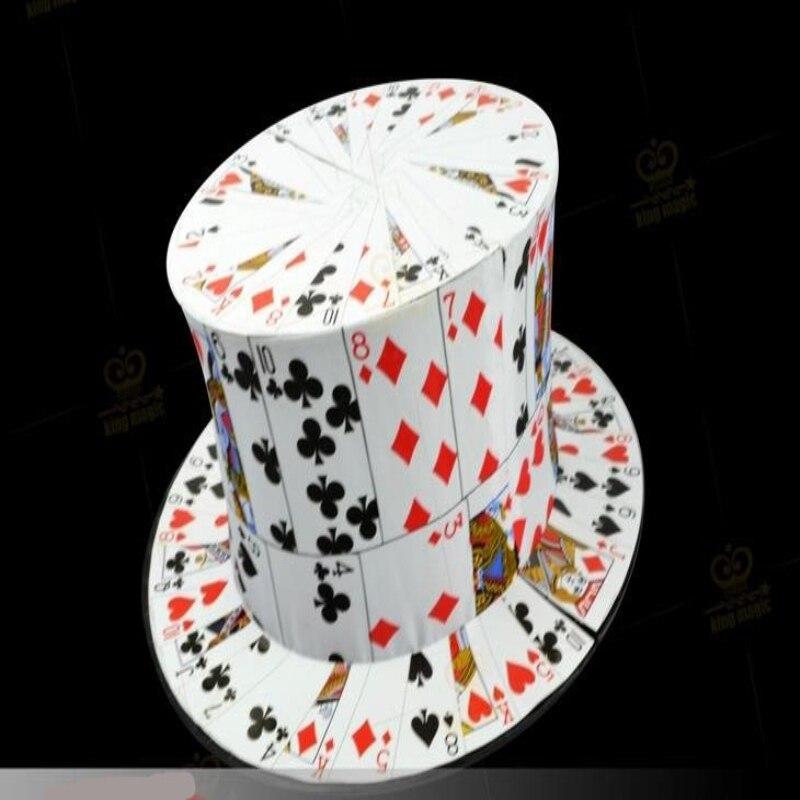 Livraison gratuite carte ventilateur à chapeau haut-de-forme de haute qualité magique chapeau Poker Cap scène comédie magique accessoires tours de Magie Gimmick Magie jouets