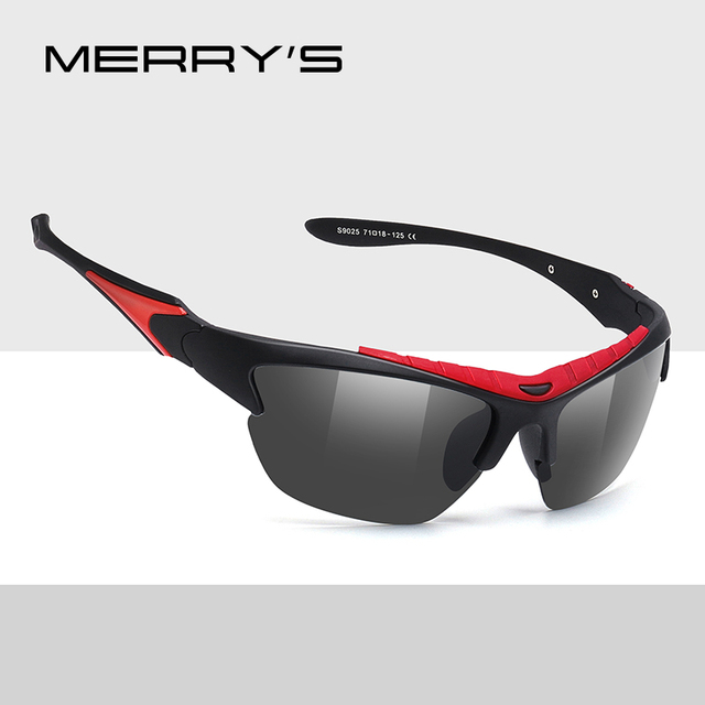 MERRYS DESIGN Men Polarized Outdoor Sports Sunglasses Male Goggles Glasses For Fishing B i cycle UV400 Protection S9025