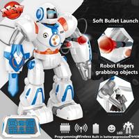 Humanoid Artificial Smart Robot Wireless Remote Control Bullet Launch Programming Dance Music Cool Light Robot Entertaining Toy