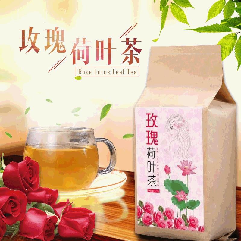 New Tea  Rose Lotus Leaf Tea Tea Bag Rose Camellia Herb Tea Health Care Tea 120g Boxed Mail
