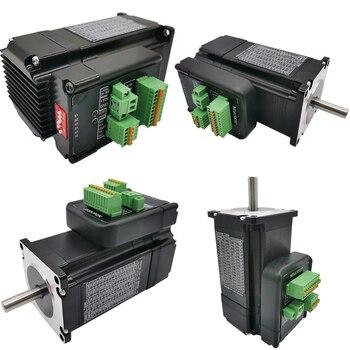 Nema23 motor paso a paso de circuito cerrado 2.0Nm D = 8mm 285oz-nema 23 híbrido integrado Stepper Servo Motor con unidad 57x76mm 4.2A 48v