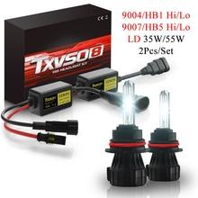 9007 HB5 Hi Li Socket HID Headlight Kit 9004 HB1 Hi Li Xenon Headlamp Conversion Kit 2Pcs 35W 55W Halogen Bulbs With Canbus