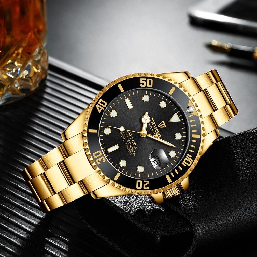 Hot Sale  Tevise Watch Men'S Luxury Mechanical Watch Steel Belt Waterproof Automatic Watch Business
