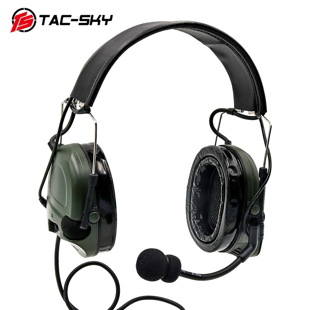 COMTAC I TAC-SKY Comtac I Silicone Earmuffs Outdoor Sports Noise Reduction Pickup Military Shooting Earmuffs Tactical Headset FG