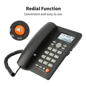 Image 5 - Desktop Corded Telephone with Caller ID Display, Wired Landline Phone for Home/Hotel/Office, Adjustable Volume, Real Time Date W