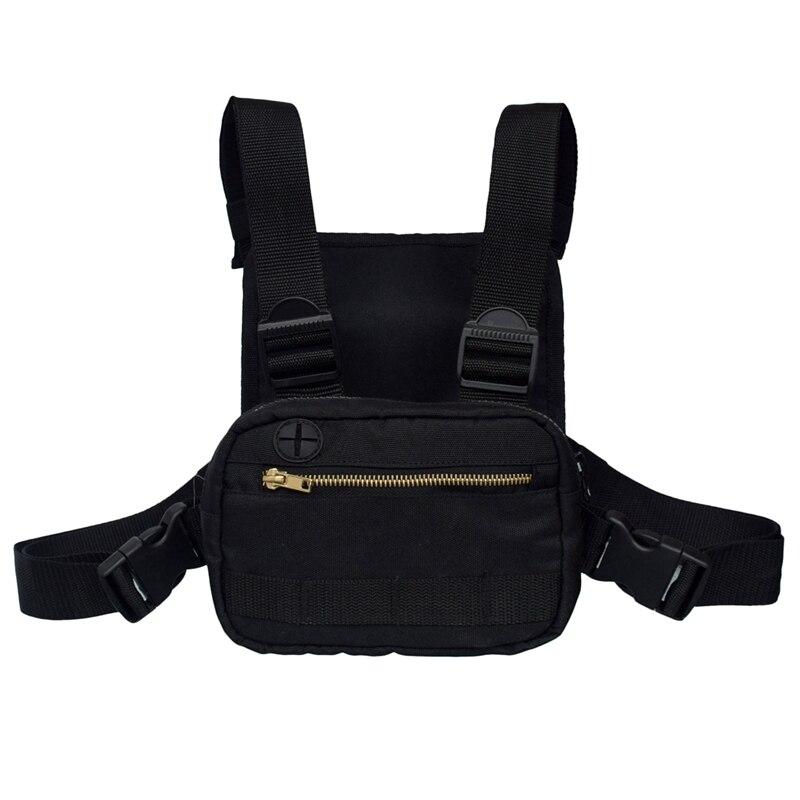 Mini Men Chest Rig Streetwear Outdoor Sports Waist Bag Climbing Shoulder Bag Phone Money Belt Chest Bag