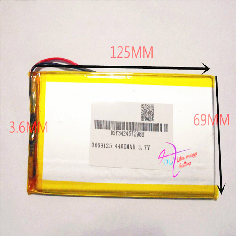 3669125 <font><b>3.7V</b></font> <font><b>4400mAH</b></font> 3570125 3270125 PLIB (polymer lithium ion <font><b>battery</b></font>) Li-ion <font><b>battery</b></font> for tablet pc,Digital pho image