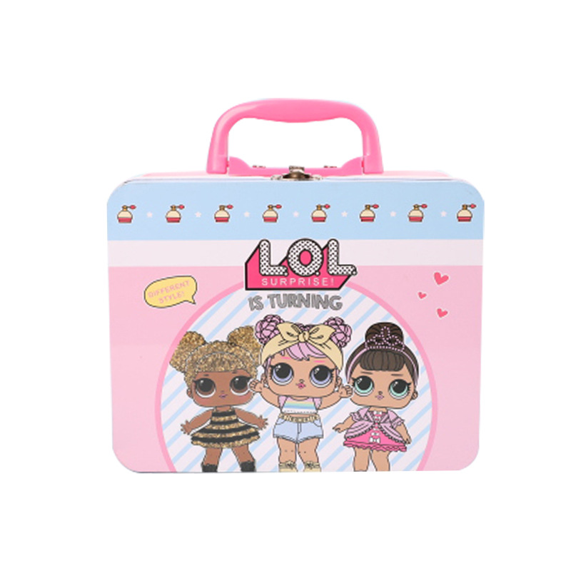 LOL Surprise Dolls Genuine Lunch Box Lols Dolls Handbag Tableware Action Toys Birthday Gifts For Girls 19.5*9.5*15.5cm