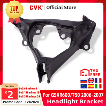 цены CVK Headlight Bracket Motorcycle Upper Stay Fairing For SUZUKI GSXR600 GSXR750 GSXR 600 750 GSX-R K6 2006 2007 06 07 Parts