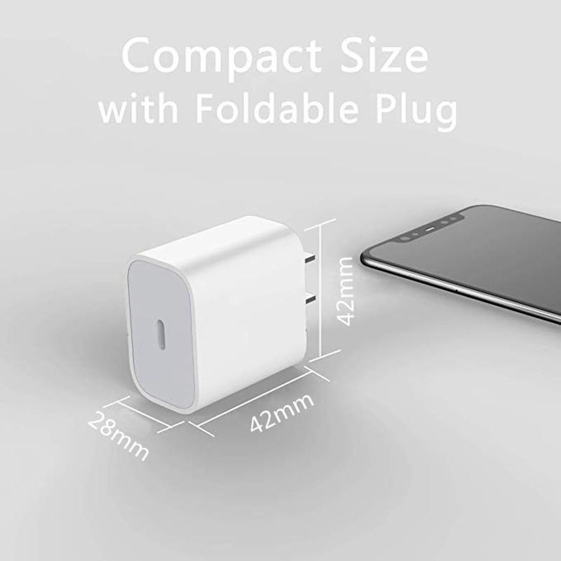 Сетевое зарядное устройство с USB Type-C, 18 Вт, для iPhone 11 Pro/XR/X/Xs Max/12-4