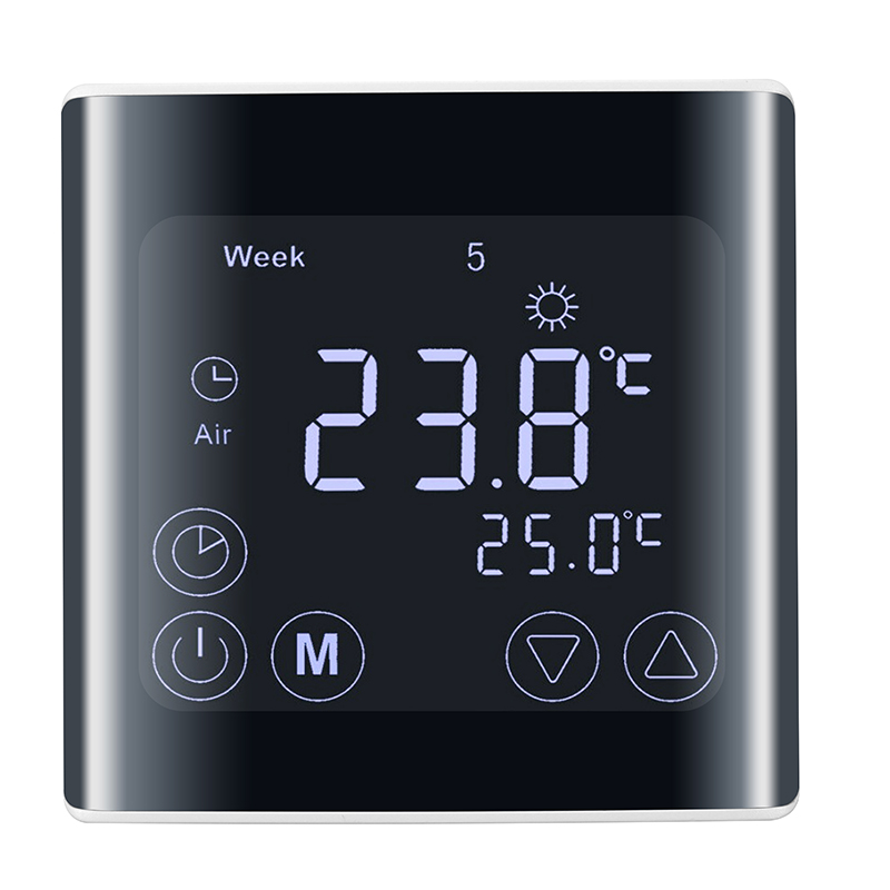 230V Touch Screen Temperature Controller Thermoregulator LCD Display Electric Heating Room Thermostat