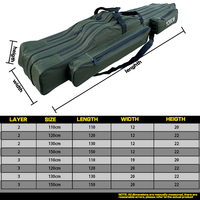 Oxford Cloth Folding Fishing Rod Bag Reel Outdoor Multifunctional Fishing Tackle Storage Bags Travel Carry Case Pesca
