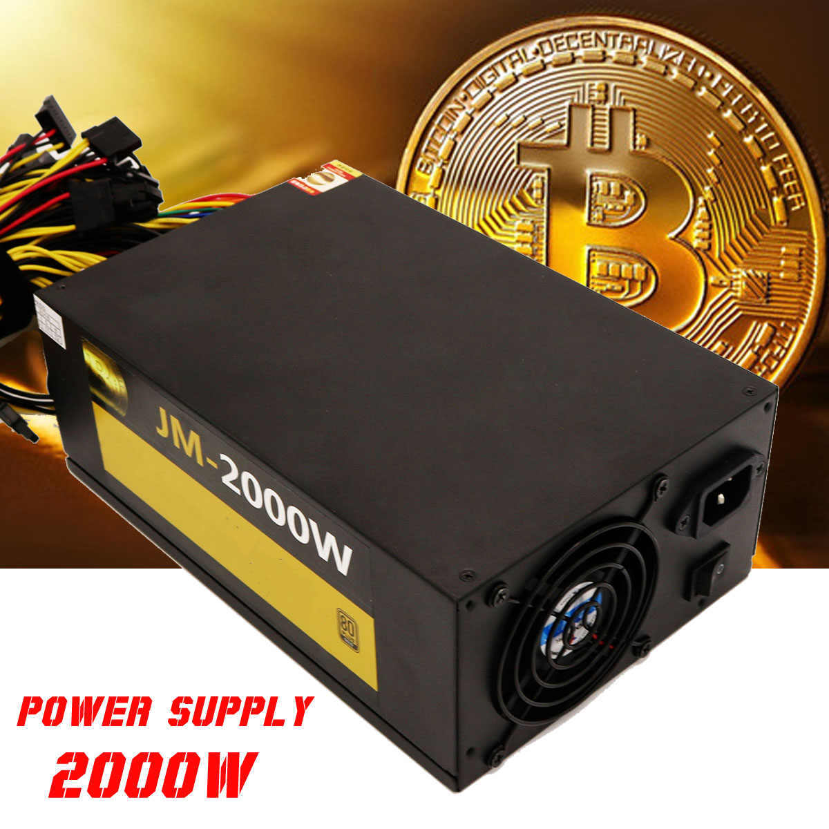 Profesional PC Power Supply untuk Bitcoin Miner ATX 2000W ETH Koin Mining Bitcoin Pasokan Listrik 12V PC Komputer pc Power Supply