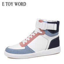 E TOY WORD Women Sneakers Breathable Shoes Hip Hop High Top Casual Lace Up Trainers Chaussure Femme