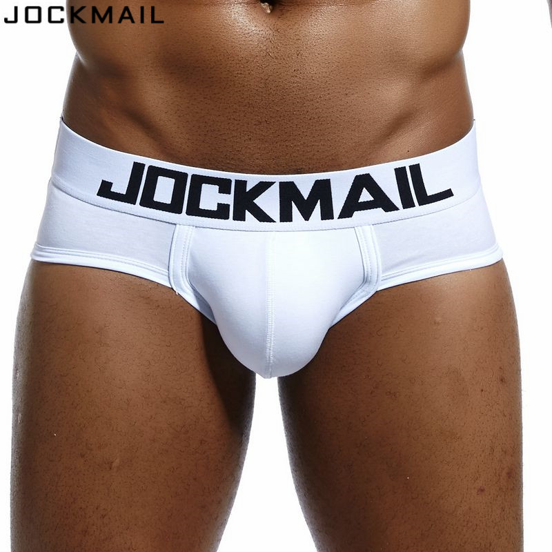 JOCKMAIL Brand Mens Underwear Briefs Sexy Cuecas Calzoncillos Hombre Slip Gay Sleepwear Breathable Cotton Male Panties Shorts