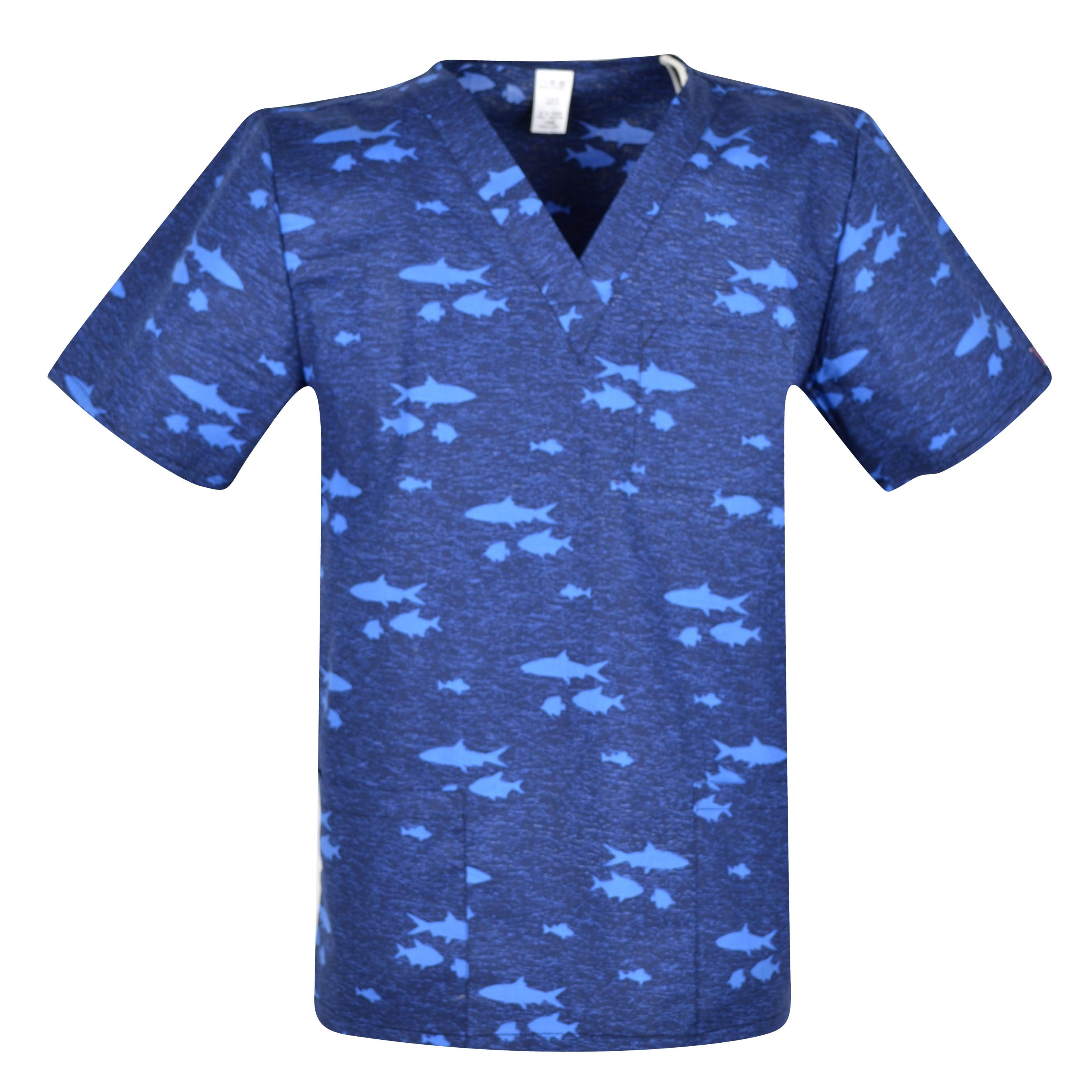 Print Men Medical Uniforms,men Scrub Top,men Medical Tops In  Camouflage Medical Uniform For Male In 100% Cotton