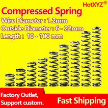 HotXYZ 65Mn Compression Spring Y Type Cylidrical Coil Rotor Return Pressure Compressed Spring Steel Wire Diameter 1.2mm