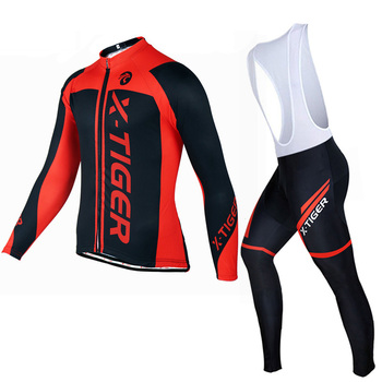 Pro Cycling Jersey Set Autumn Quick-Dry Long Sleeve Men Sportswear MTB Cycling Jersey Sets Outdoor Sport Bicycle Jersey Kit