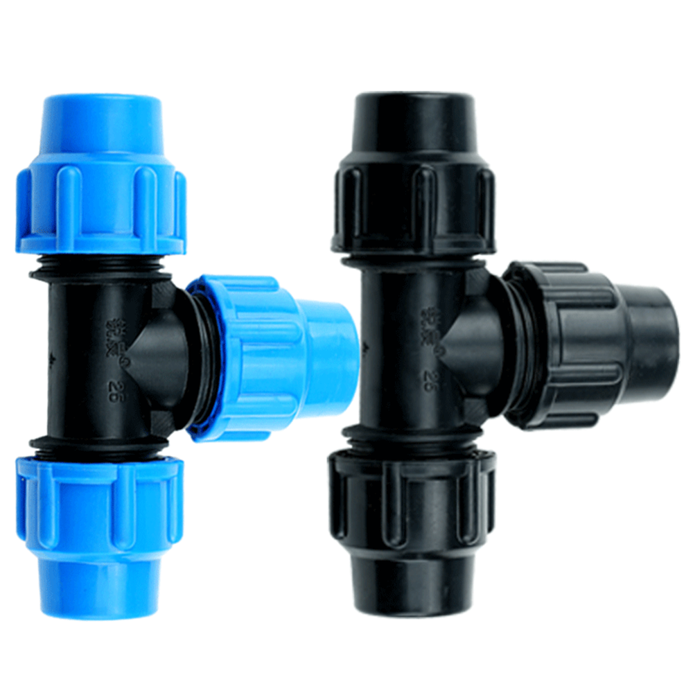 PE Pipe Fittings Three-way Quick Joint Tap Pipe Fittings Plastic Pipe Fittings 16/20/25/32/40/50/63mm