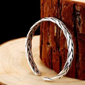 Image 5 - ZABRA 999 סטרלינג כסף מארג פתוח צמיד קלוע אוהבי עבור נשים גברים יוניסקס רטרו תכשיטי יום