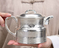 Multifunctional silver pot sterling silver 999 boiled tea teapot single pot large handmade household tea set