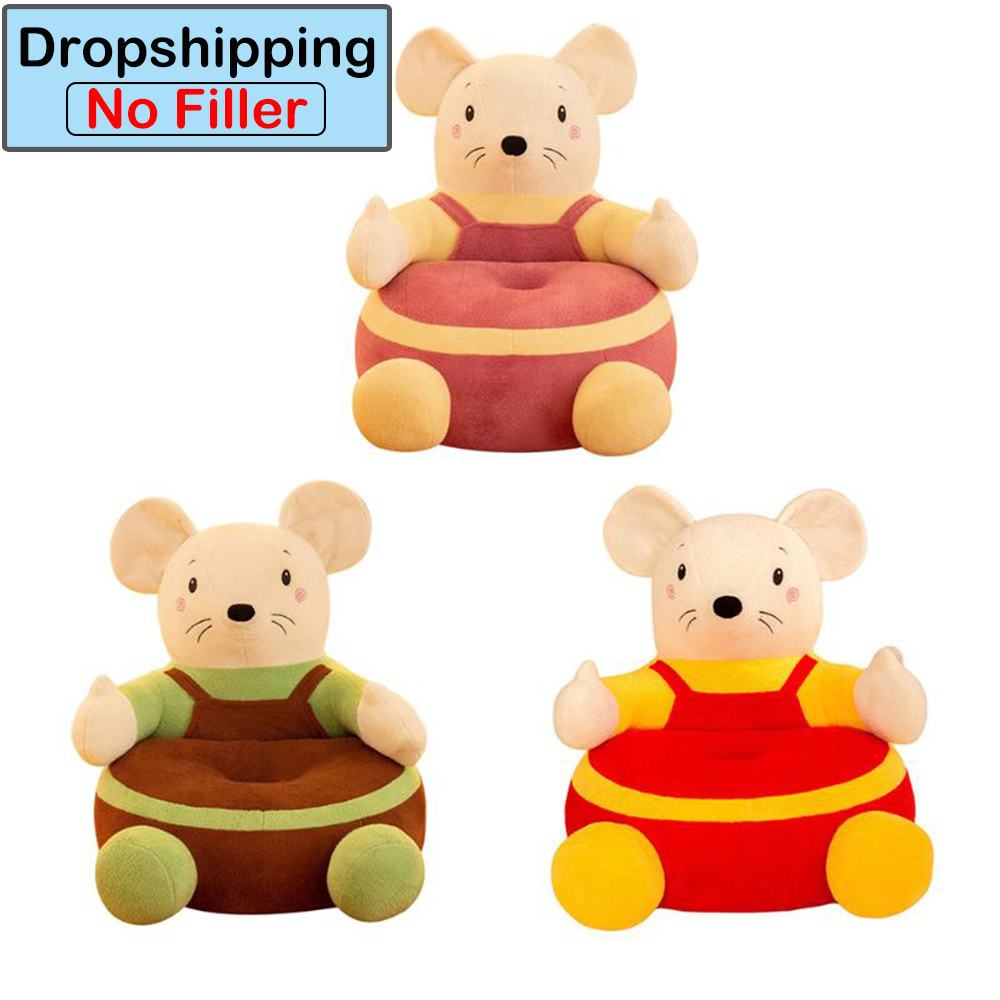 Drop Shipping Baby Kids Sofa Seats Support Cover Cute Mouse New Year Feeding Chair Cover For Infant Plush Sofa Chair Seat Skin