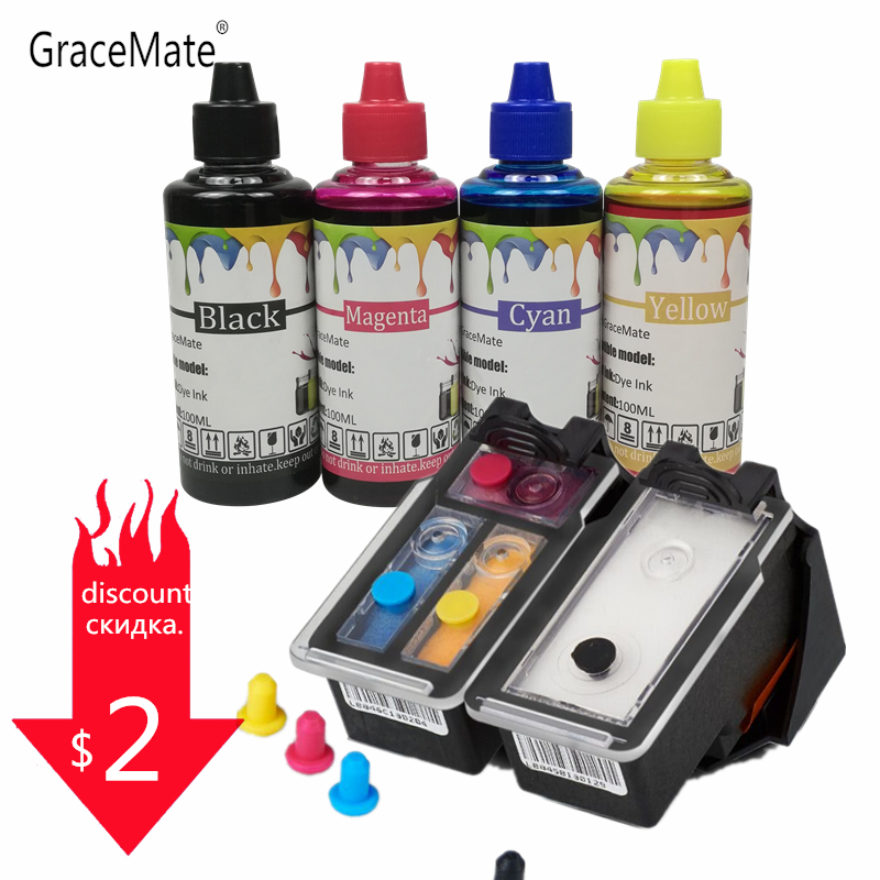 400ML Ink + Refillable Ink Cartridge Pg 40 Cl 41 for Canon Pixma IP1800 IP1200 IP1900 IP1600 MX300 MX310 MP160 MP140 Printer