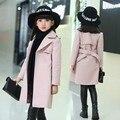 Зимние куртки для девочек; Верхняя одежда; детское шерстяное пальто; плотный зимний комбинезон для девочек; куртки для малышей; меховые паль...