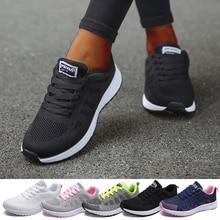 Sapatilhas femininas sapatos casuais apartamentos malha de ar respirável formadores das senhoras sapatos femininos tênis femininos cesta tenis feminino