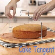 Fio ajustável bolo cortador nivelador pizza cortador de massa ferramentas bolo inoxidável tangente cozinha gadget m #12