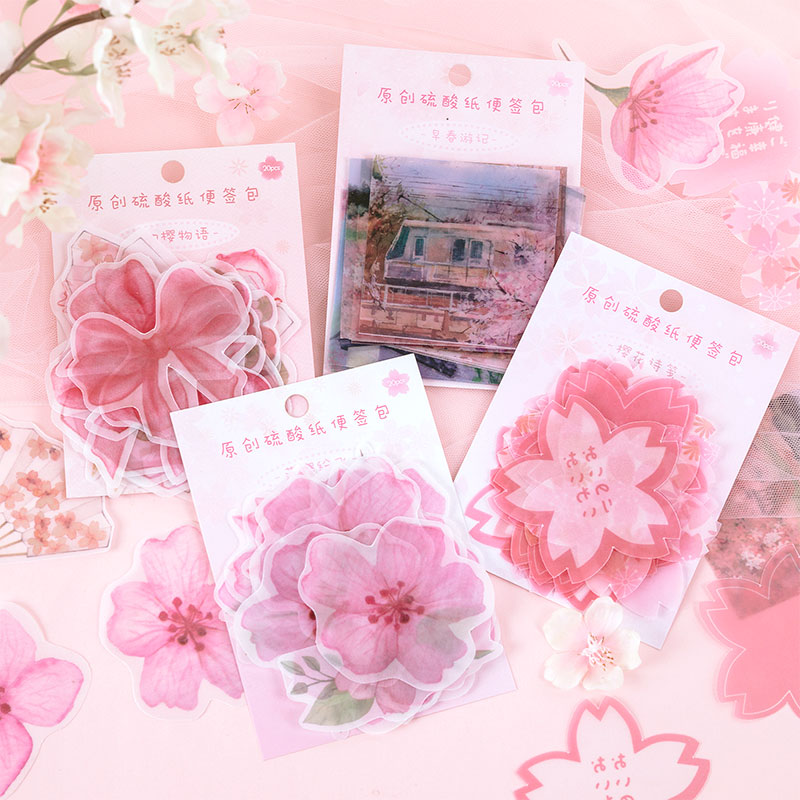 20pcs/pack Sakura Season Stationery Stickers Sealing Label Travel Sticker Diy Scrapbooking Diary Planner Albums Decorations