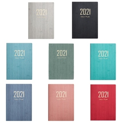 2021 calendar full English inside page A5 efficiency manual planning note time planning notepad student's office notepad