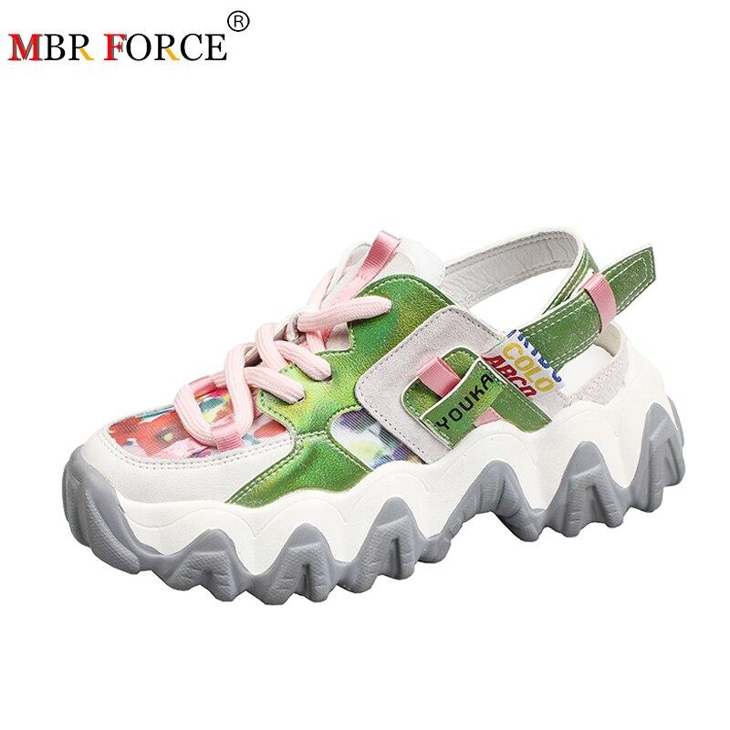 MBR FORCE Women Sandals fashion Sandalia feminina 2020 Summer New Color Blocking Womens shoes Sandale Femme High Heels Sandals