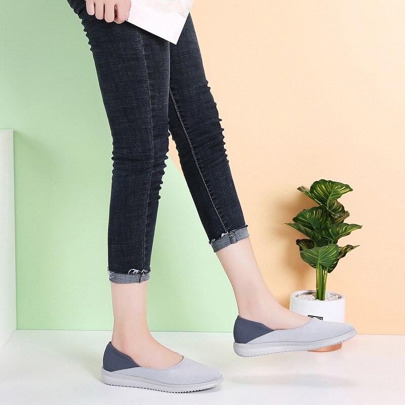 Image 4 - STQ/Женская тканая обувь на плоской подошве; Женские лоферы на плоской подошве; Мокасины без шнуровки на плоской подошве для тенниса; Кроссовки; 7758Обувь без каблука   -