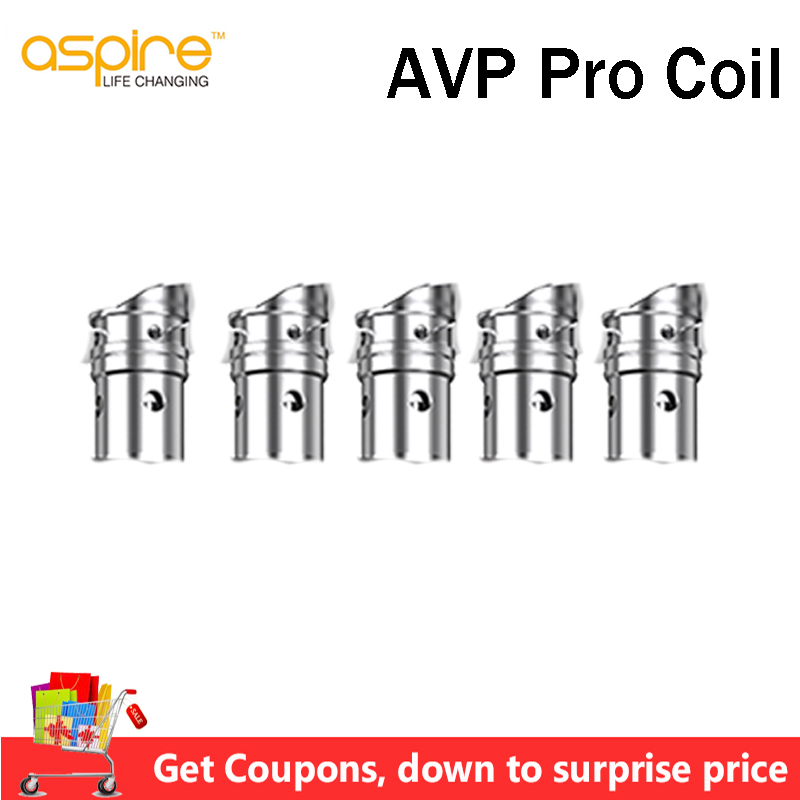Pre-order 5pcs/lot Aspire AVP Pro Standard Coil 1.15ohm /Mesh Coil 0.65ohm For Aspire AVP Pro Pod Vape E Cigarette AVP Pro Kit