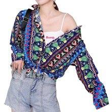 YOMING YM043 camicia ufficiale di moda anacardi camicette con stampa top colletto rovesciato bottoni manica lunga stile Streetwear