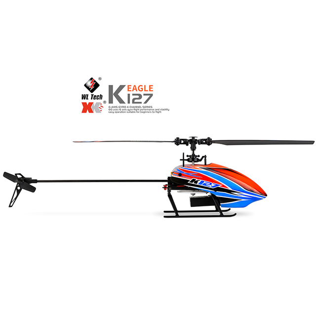 WLtoys Helicopters K127 2.4Ghz 4CH 6-Aixs Gyroscope Single Blade Propellor Gyro Mini RC Helicotper For Kids Gift RC Toys v911 2