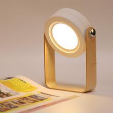 Wooden Lamp Handle Portable Lantern Light Retractable Table Lamp Bedroom Bedside Reading led folding desk lamp