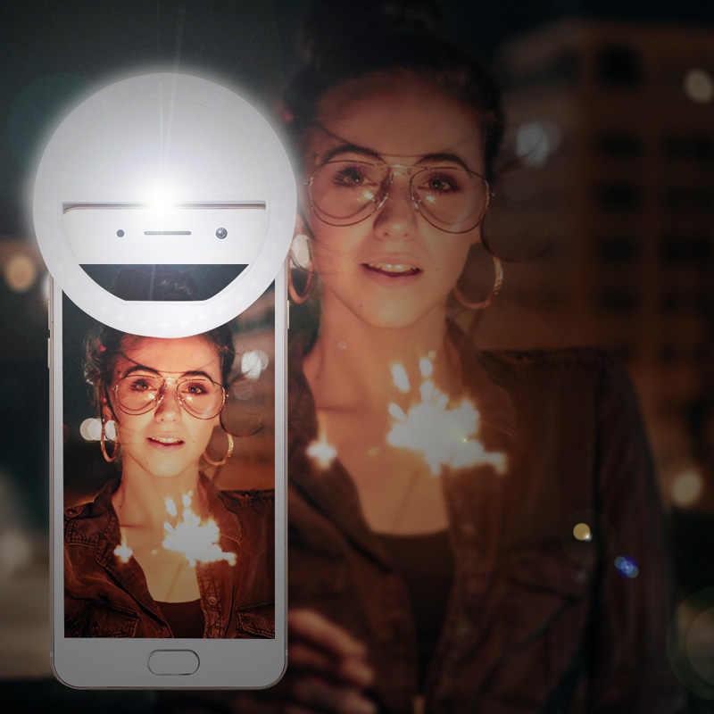 2020 universal selfie led anel flash lumiere telefone portátil leds selfie lâmpada clipe de anel luminoso para telefone celular smartphone