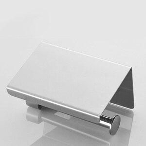 Image 4 - Rovogo sus 304 ステンレス鋼トイレットペーパーホルダーと電話棚、浴室ティッシュホルダートイレットペーパーロールホルダー