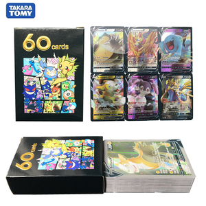 60Pcs Vmax Pokemon cards English version anime collection Trading card Pokemon booster shiny cards pokemon toy for kids