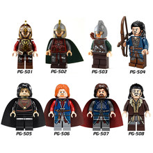 Single Sale Building Blocks Movie Lord of the Rings Series Archer Bard Assemble King Rohan Figures For Children Toys Gift PG8031(China)