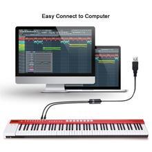 Электрический фортепиано барабан USB до 2 MIDI интерфейс Кабельный адаптер-переходник для ПК музыкальная клавиатура синтетический адаптер Windows Mac IOS 2 метра